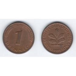 (105) Alemania. 1981(F). 1 Pfennig (MBC)