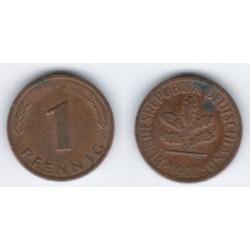 (105) Alemania. 1980(F). 1 Pfennig (MBC)