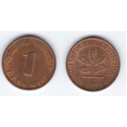 (105) Alemania. 1971(D). 1 Pfennig (MBC)