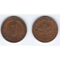 (105) Alemania. 1968(F). 1 Pfennig (MBC)