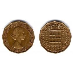 (900) Gran Bretaña. 1967. 3  Pence (BC)