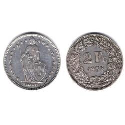 (21) Suiza. 1955(B). 2 Francs (EBC)