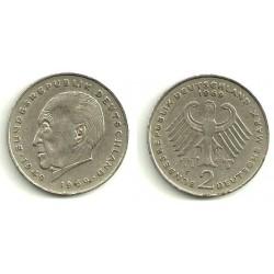 (124) Alemania. 1969(F). 2 Mark (BC)