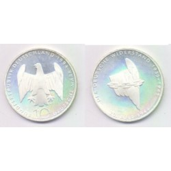 (182) Alemania. 1994(A). 10 Mark (SC) (Plata)