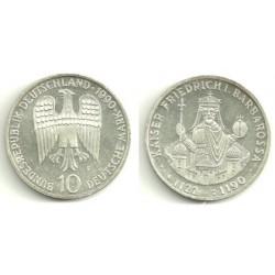 (174) Alemania. 1990(F). 10 Mark (SC) (Plata)