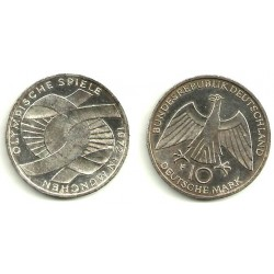 (131) Alemania. 1972(F). 10 Mark (EBC) (Plata)