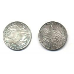 (131) Alemania. 1972(G). 10 Mark (SC) (Plata)