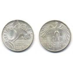 (133) Alemania. 1972(G). 10 Mark (SC) (Plata)