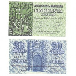 Barcelona [1938] Billete de 50 Cèntims (SC)