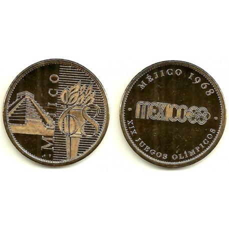 Medalla Conmemorativa Juegos Olimpicos Mexico 1968 Numismatica Rovira