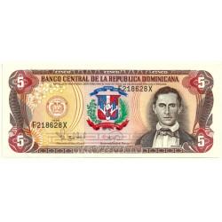 (152a) República Dominicana. 1996. 5 Pesos Oro (SC)