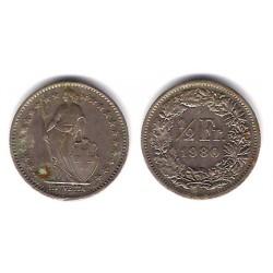 (23a.2) Suiza. 1980. ½ Franc (BC)