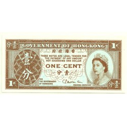 (325b) Hong Kong. 1961-95. 1 Cent (SC)