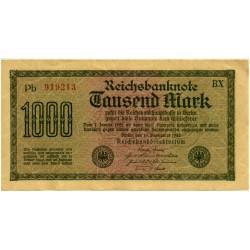 (76b) Imperio Alemán (Weimar). 1922. 1000 Mark (EBC+)