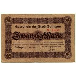 Alemania. Solingen. 1920. 20 Mark (EBC-)