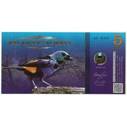 Atlantic Forest. 2015. 5 Aves Dollars (SC)