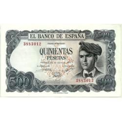 [1971] Billete de 500 Pesetas (EBC) Sin Serie