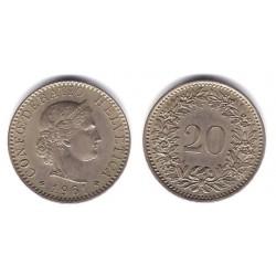 (29a) Suiza. 1961(B). 20 Rappen (EBC)