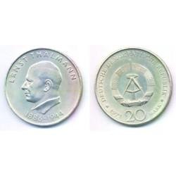 (34) Alemania Democrática. 1971(A). 20 Mark (SC)