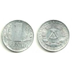 (8.1) Alemania Democrática. 1968(A). 1 Pfennig (EBC)