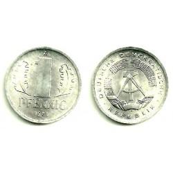 (8.2) Alemania Democrática. 1981(A). 1 Pfennig (SC)