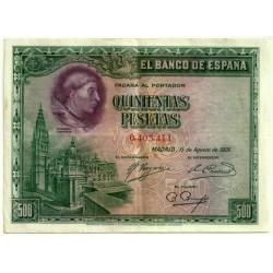 [1928] Billete de 500 Pesetas (MBC). Sin Serie
