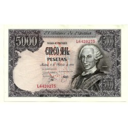 [1976] Billete de 5000 Pesetas (EBC+) Serie L