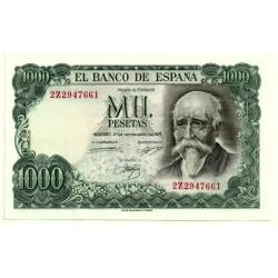 Estado Español. 1971. 1000 Pesetas (EBC+) Serie 2Z