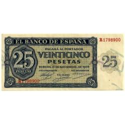 [1936] Billete de 25 Pesetas (SC) Serie R