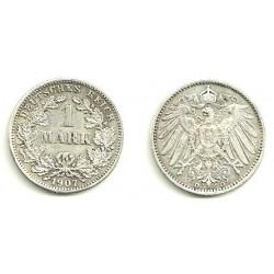 (14) Imperio Alemán. 1907(D). 1 Mark (EBC) (Plata)