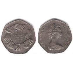 (918) Gran Bretaña. 1973. 50 Pence (MBC-)