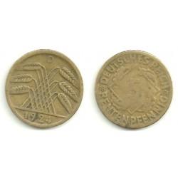 (39) Imperio Alemán (WEIMAR). 1924(D). 5 Pfennig (MBC)