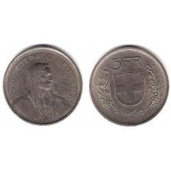 (40a.1) Suiza. 1968B. 5 Francs (MBC)