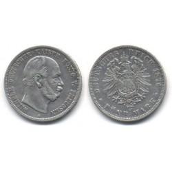 (503) Estados Alemanes (Prussia). 1876(C). 5 Mark (MBC) (Plata)