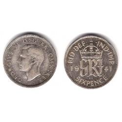(852) Gran Bretaña. 1941. 6 Pence (MBC) (Plata)