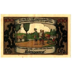 Alemania. Konigsaue. 1921. 100 Pfennig (MBC)