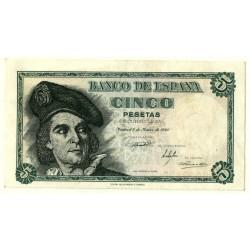 [1948] Billete de 5 Pesetas (EBC+) Serie E