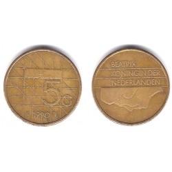(210) Países Bajos. 1990. 5 Gulden (BC)