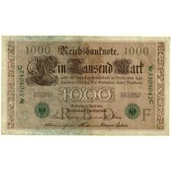 (45b) Imperio Alemán. 1910. 1000 Mark (MBC+)