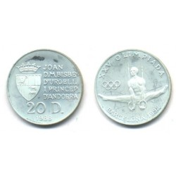 (48) Andorra. 1988. 20 Diners (Proof) (Plata)