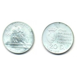 (59) Cuba. 1990. 20 Diners (Proof) (Plata)