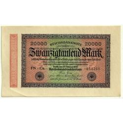 (85f) Imperio Alemán (WEIMAR). 1923. 20000 Mark (EBC+)