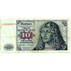 (31a) Alemania. 1970. 10 Mark (BC)