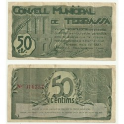 Terrassa [1937] Billete de 50 Céntimos (MBC)