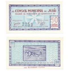 Juià [1937] Billete de 50 Cèntims (SC)