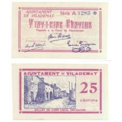 Vilademat [1937] Billete de 25 Cèntims (SC)