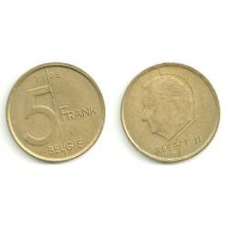 Belgica. 1998. 5 Francs (MBC)