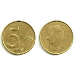 Belgica. 1996. 5 Francs (MBC)