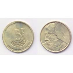 (164) Belgica. 1986. 5 Francs (SC)