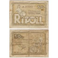 Ripoll [1937] Billete de 50 Céntimos (BC)